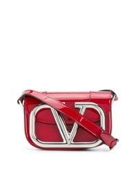 Valentino Garavani Red Mini Supervee Crossbody Bag