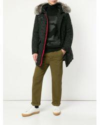 Loveless Black Padded Hooded Coat for men