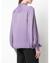 Nili Lotan Purple Oberteil mit weiten Ärmeln