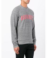 メンズ DSquared² ロゴプリント スウェットシャツ Gray