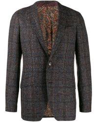 Пиджак Стандартного Кроя Etro для него, цвет: Gray