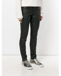 AG Jeans Green Coated Skinny Jeans