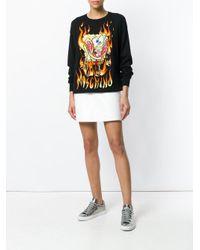 Moschino Black Embroidered Spongebob Sweater