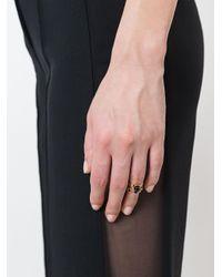Eshvi Black 'lava' Midi Ring