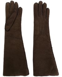 Maison Fabre - Brown Shearling Long Gloves - Lyst