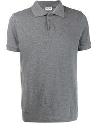 メンズ Saint Laurent モノグラム ポロシャツ Gray