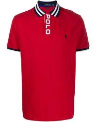 メンズ Polo Ralph Lauren ロゴエンブロイダリー ポロシャツ Red