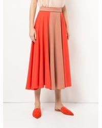 Roksanda - Orange Nuala Midi Skirt - Lyst