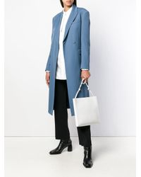 Jil Sander White Tangle Satchel Bag