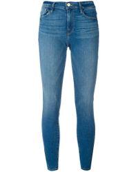 FRAME Blue High-rise Skinny Jeans