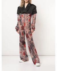Comme des Garçons Black Printed Jacket Top Jumpsuit
