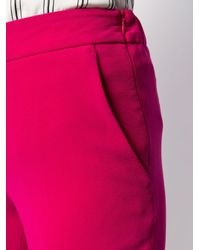 Alberto Biani クロップド テーラードパンツ Pink