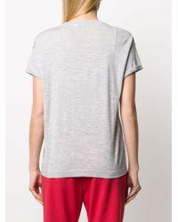 Brunello Cucinelli Gray Triangle Detail T-shirt