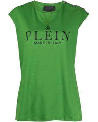 Philipp Plein ロゴ Tシャツ Green
