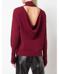 Draped back sweater di Jonathan Simkhai in Red