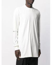 メンズ Rick Owens Drkshdw ロングライン Tシャツ White