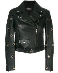 Jeremy Scott Black Eyelet Biker Jacket