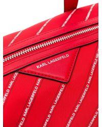 Karl Lagerfeld K/weekendtas Met Streep En Logo in het Red