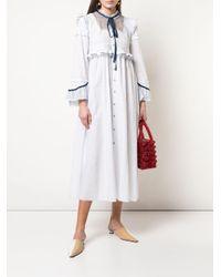 Renli Su ラッフル シャツドレス White