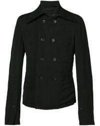 Ann Demeulemeester Black Double Breasted Jacket for men