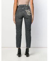 Liu Jo Gray Cropped-Jeans mit geradem Bein