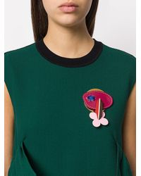 Marni - Multicolor Floral Leather Brooch - Lyst