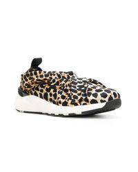 Casadei Multicolor Leopard Print Sneakers