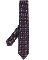 Cravatta con ricamo di Ermenegildo Zegna in Multicolor da Uomo