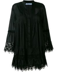 Blumarine レーストリム シフトドレス Black