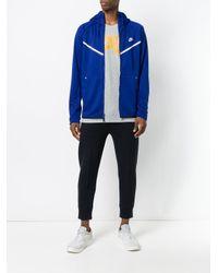 Nike Blue Zipped Style Longsleeved Jacket for men