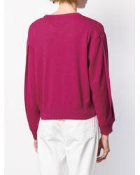 Maglione con stampa di Love Moschino in Pink