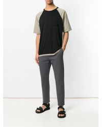 Maison Margiela Black Two-tonal T-shirt for men