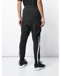 Boris Bidjan Saberi 11 Black Side Stripe Track Pants for men