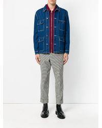 Pantalones con corte carrot AMI de hombre de color Black