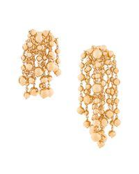 Cluster bead earrings Jacquemus en coloris Metallic