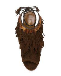 Aquazzura - Brown 'pocahontas' Sandals - Lyst