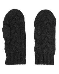 Кашемировые Перчатки Фактурной Вязки N.Peal Cashmere, цвет: Black