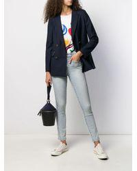 Current/Elliott Blue Mid-rise Skinny Jeans