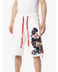 メンズ Greg Lauren X Paul & Shark トラックショーツ Multicolor