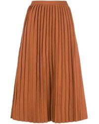 Jupe mi-longue à design plissé Sofie D