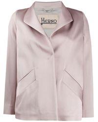 Veste à fermeture dissimulée Herno en coloris Pink