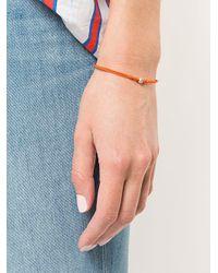 Luis Morais Yellow Small Mini Flower Cord Bracelet