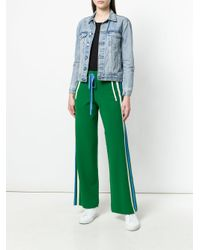 P.A.R.O.S.H. Green Runner Flared Trousers