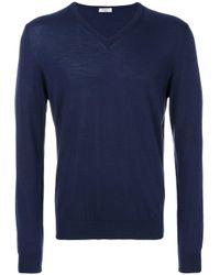 Джемпер С V-образным Вырезом Fashion Clinic для него, цвет: Blue