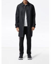 Burberry Black Technical Twill Car Coat for men