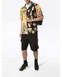 Chemise imprimée en soie Dolce & Gabbana pour homme en coloris Black