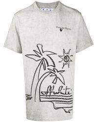 Off-White c/o Virgil Abloh White Graphic-print Cotton T-shirt for men