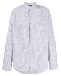 Рубашка С Узором Emporio Armani для него, цвет: Gray