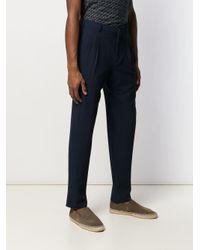 メンズ Giorgio Armani テクスチャード テーラードパンツ Blue