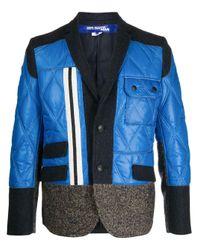 メンズ Junya Watanabe パネル シングルジャケット Blue